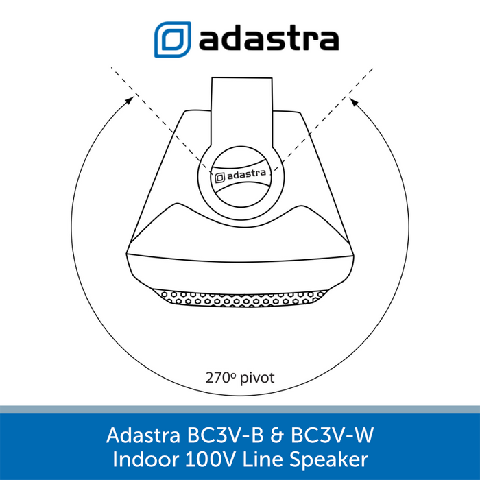 Adastra BCV Series Indoor Wall Speakers for Background Music and Voice - Black or White