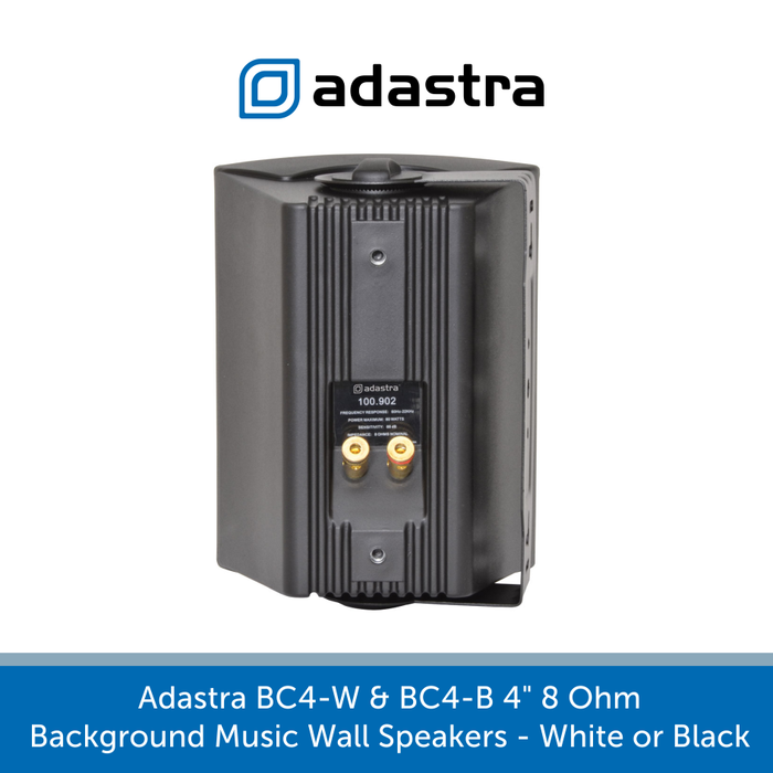 "Showing the back of a Adastra BC4-W & BC4-B 4"" 8 Ohm Background Music Wall Speakers - White or Black"