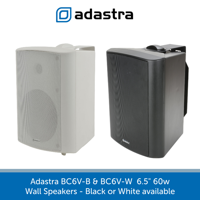 "Adastra BC6V 6"" Indoor Wall Speakers, 100V Line, Available in Black or White"