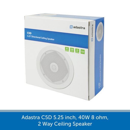 A box for a Adastra C5D 5.25 inch, 40W 8 ohm, 2 Way Ceiling Speaker