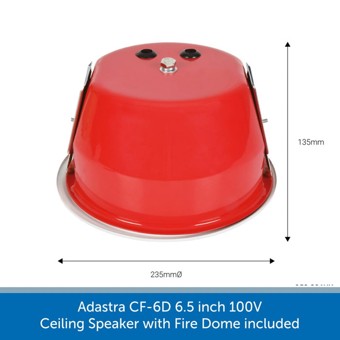 Adastra CF-6D 6.5 inch 100V Ceiling Speaker with Fire Dome included