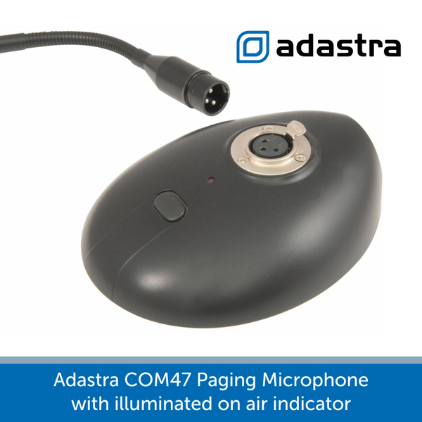 showing the base of a Adastra COM47 Paging Microphone