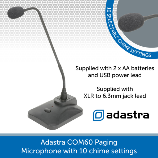 Adastra COM60 Paging Microphone with 10 chime settings