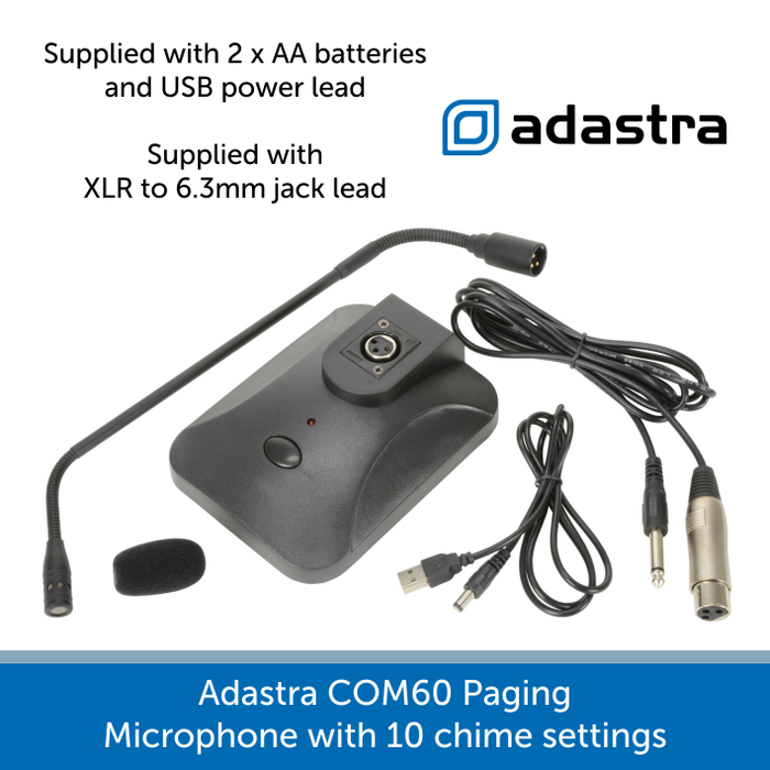 Whats in the box for a Adastra C0M60 paging microphone