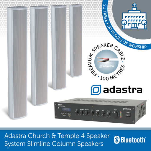 dastra Church & Temple 4 Speaker 100v Line Background Sound System