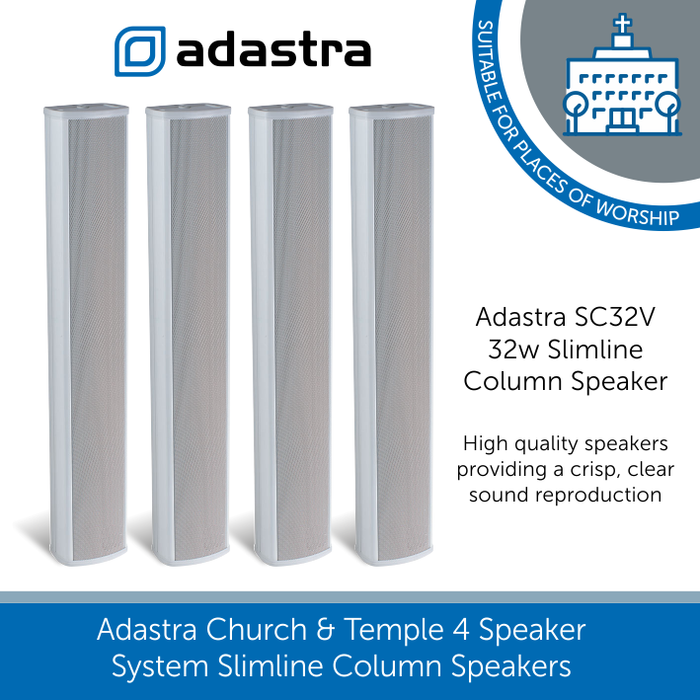 Adastra SC32V 32w Slimline Column Speaker 100V or 8Ohm