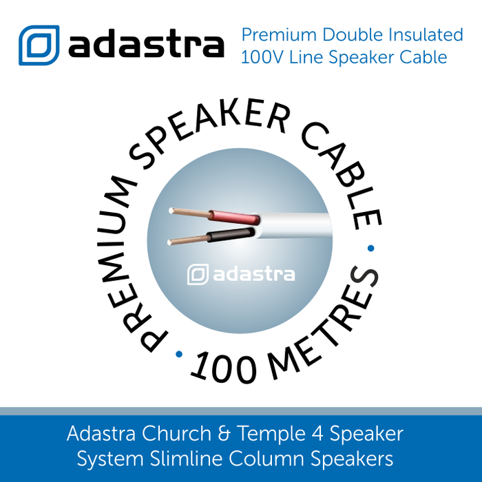 White Adastra premium speaker cable 100 metres
