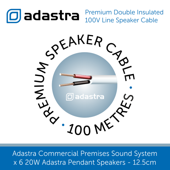 Adastra premium double insulated 100v Line Speaker Cable