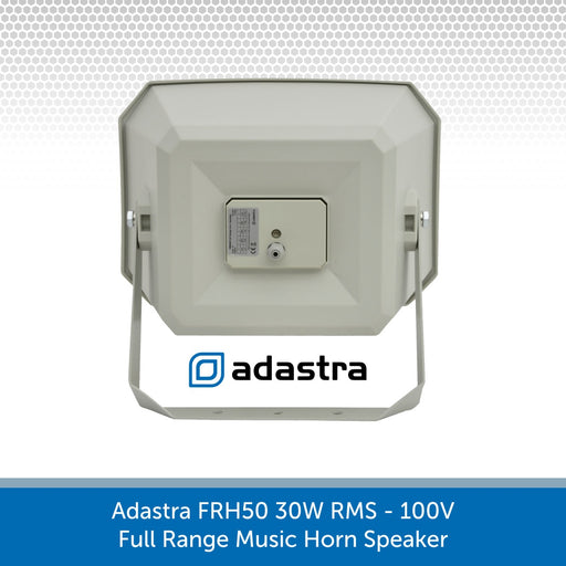 Back of a Adastra FRH50 30W 100V Full Range Music Horn Speaker