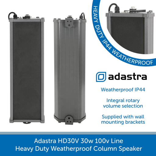 Adastra HD30V 30w 100v Line Heavy Duty Weatherproof Column Speaker