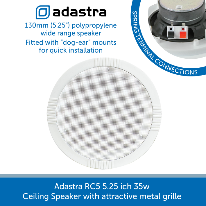 Adastra RC5 5.25 ich 35w Ceiling Speaker with attractive metal grille