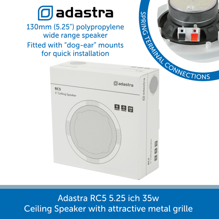 Box for a Adastra RC5 5.25 inch 35w Ceiling Speaker