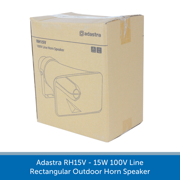 Showing the box for a Adastra RH15V