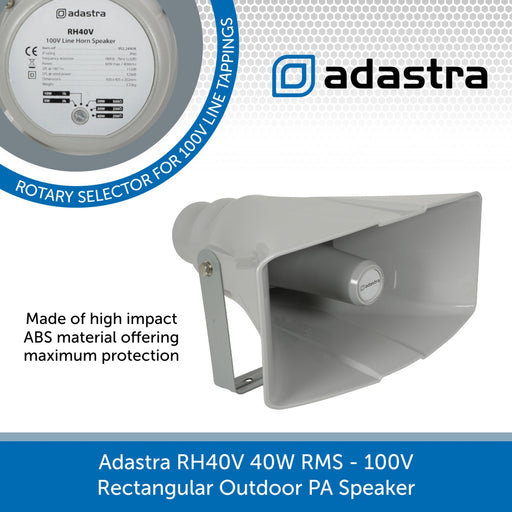 Adastra RH40V 40W 100V Rectangular Outdoor PA Speaker