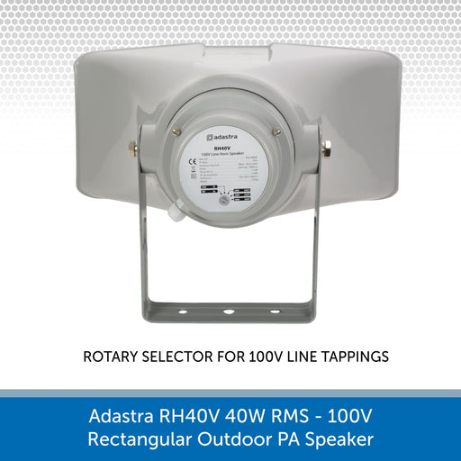 Showing the back of a Adastra RH40V 40W 100V Rectangular Outdoor PA Speaker