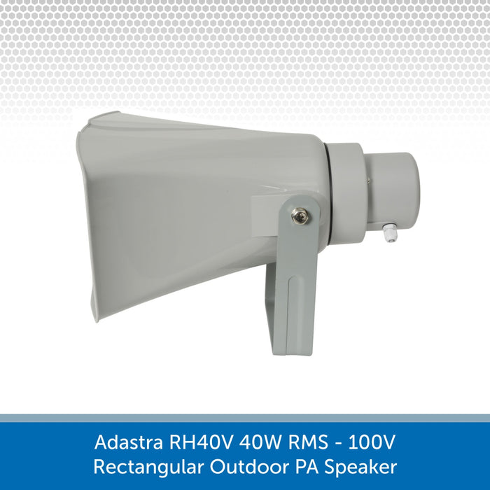 Side view of a Adastra RH40V 40W 100V Rectangular Outdoor PA Speaker