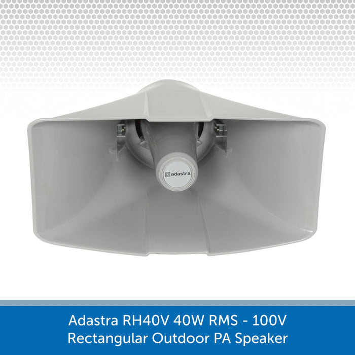 Front view of a Adastra RH40V 40W 100V Rectangular Outdoor PA Speaker