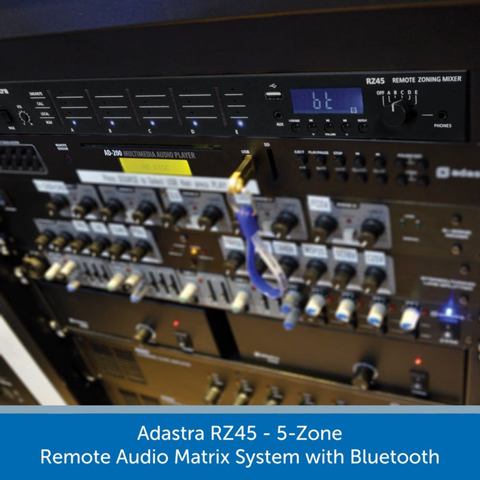 Adastra RZ45 - 5-Zone Remote Audio Matrix System with Bluetooth