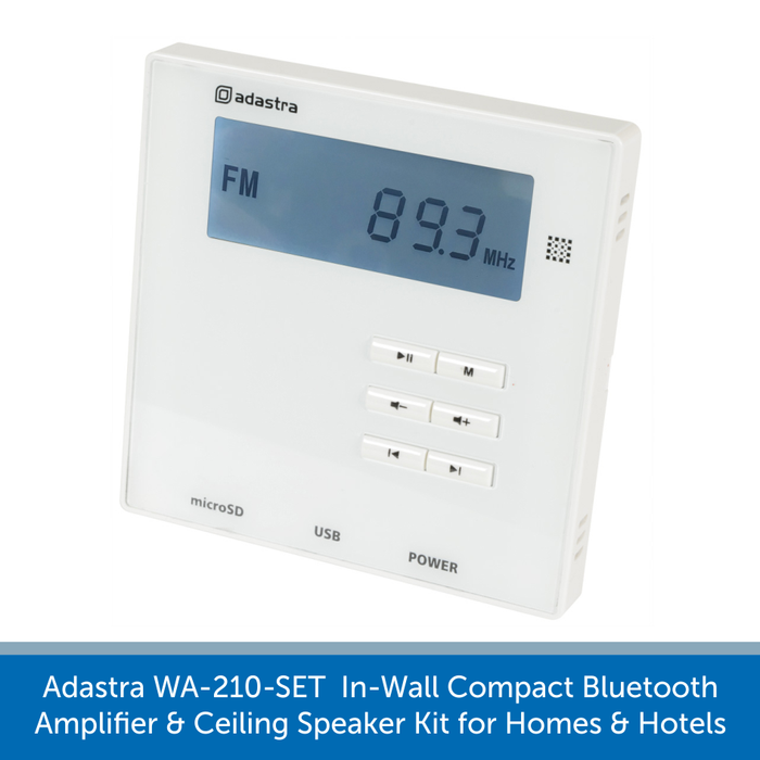 A amplifier for the Adastra WA-210-SET  In-Wall Compact Bluetooth Amplifier and Ceiling Speaker Kit for Homes and Hotels
