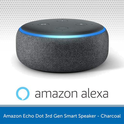 Amazon Echo Dot 3rd Gen Smart Speaker - Charcoal