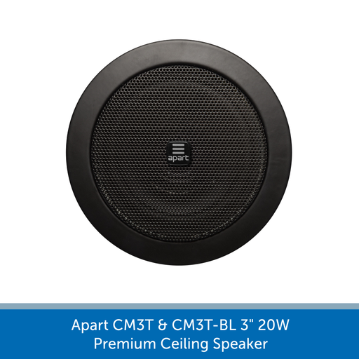 Apart Audio CM3T & CM3T-BL 3 inch 20W Background Audio Premium Ceiling Speaker - Black or White