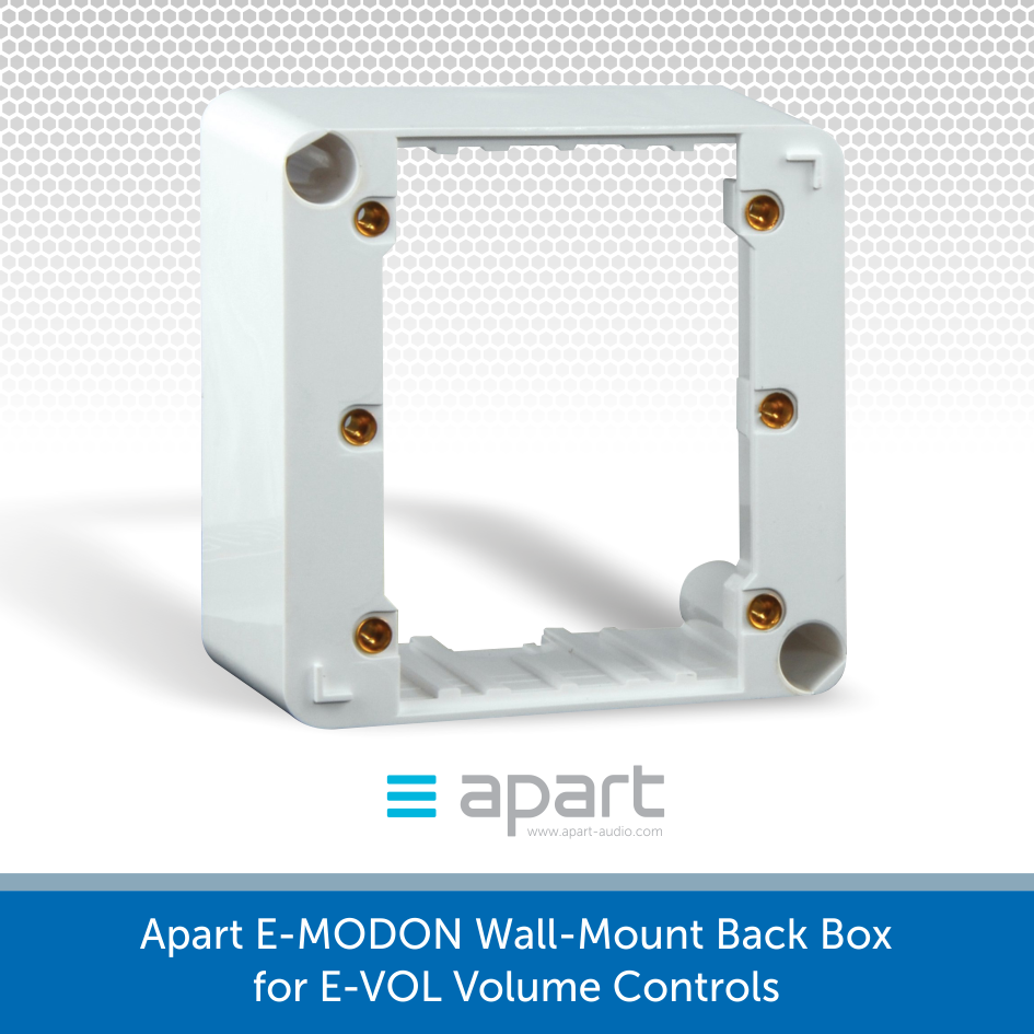 Apart E-MODON Wall-Mount Back Box for E-VOL Volume Controls