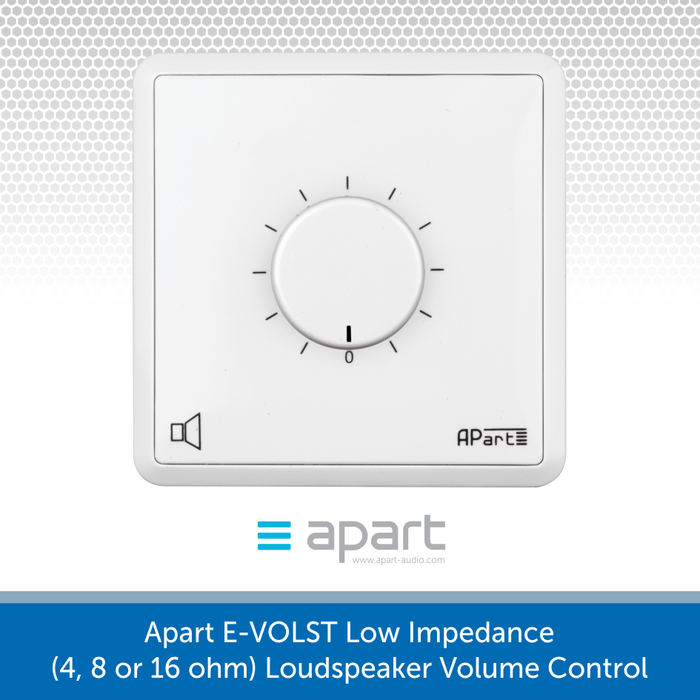 Apart E-VOLST Low Impedance (4, 8 or 16 ohm) Loudspeaker Volume Control