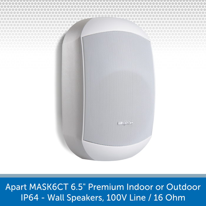 Also available in White Apart Audio MASK6CT-W & MASK6CT-BL