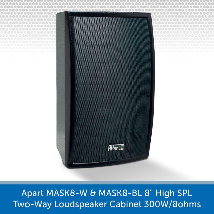 Apart Audio MASK8-W & MASK8-BL available in black and whiete