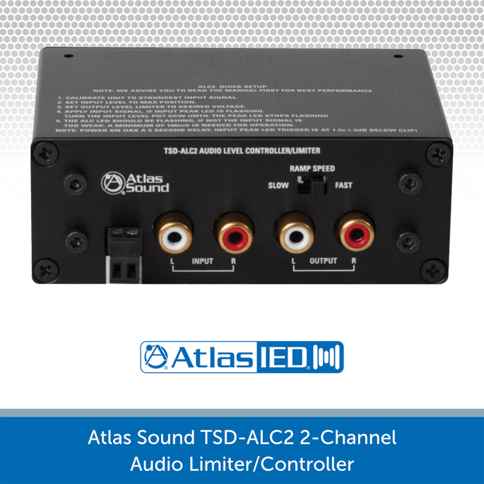 ATLAS SOUND TSD-ALC2 2-CHANNEL AUDIO LEVEL CONTROLLER/LIMITER REAR
