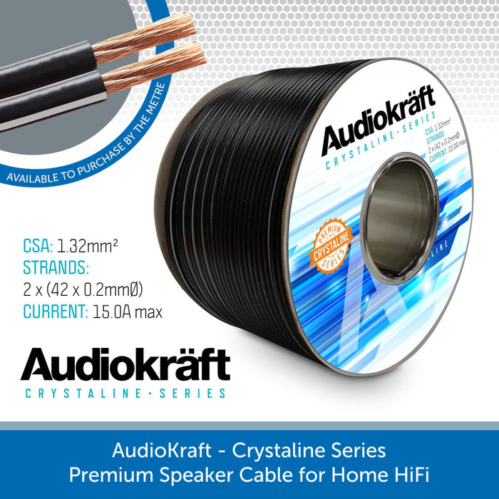 AudioKraft Crystaline Series - Premium Speaker Cable