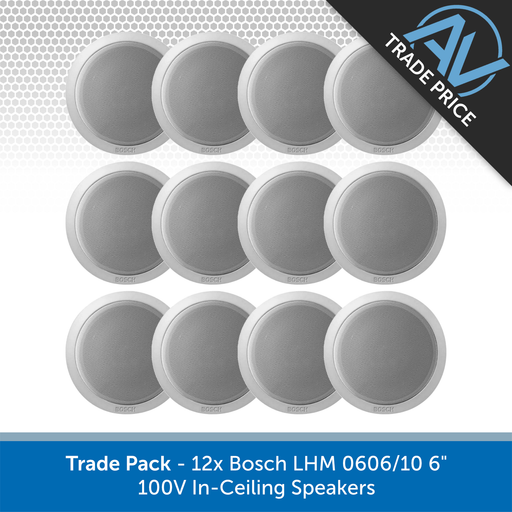 "Trade Pack - 12x Bosch LHM 0606/10 6"" 100V In-Ceiling Speakers"