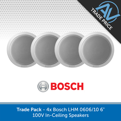 "Trade Pack - 4x Bosch LHM 0606/10 6"" 100V In-Ceiling Speakers"