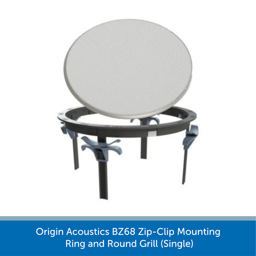 Origin Acoustics BZ68 Zip-Clip Mounting Ring and Round Grill (Single)