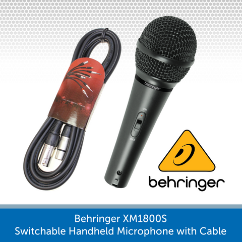 Behringer XM1800S Switchable Handheld Microphone with Cable