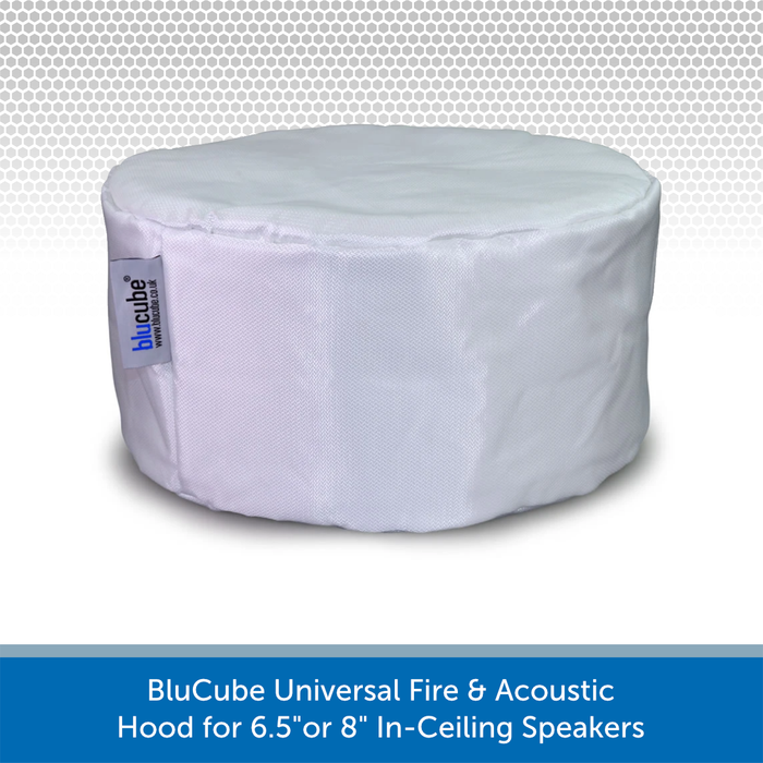 "BluCube Universal Fire & Acoustic Hood for 6.5""or 8"" In-Ceiling Speakers"