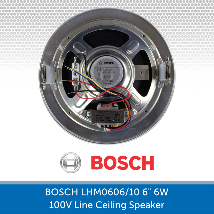 Rear Image of the Bosch LHM 0606/10 showing the fixing points and cabling
