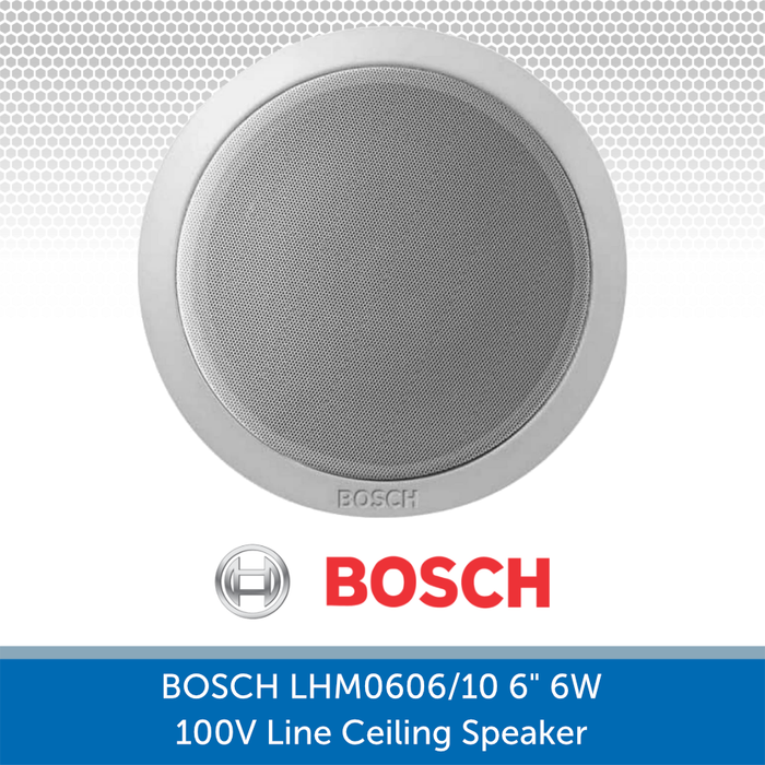 Face on image of the Bosch LHM 0606/10 6-Inch Ceiling Speaker perfect for Background Music and Voice