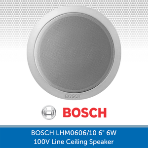 Bosch LHM0606/10 6-inch Ceiling Speaker for Background Music and Voice, 6W, 100V Line