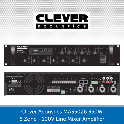 Clever Acoustics MA 350Z6 350W 6-Zone Paging Amplifier