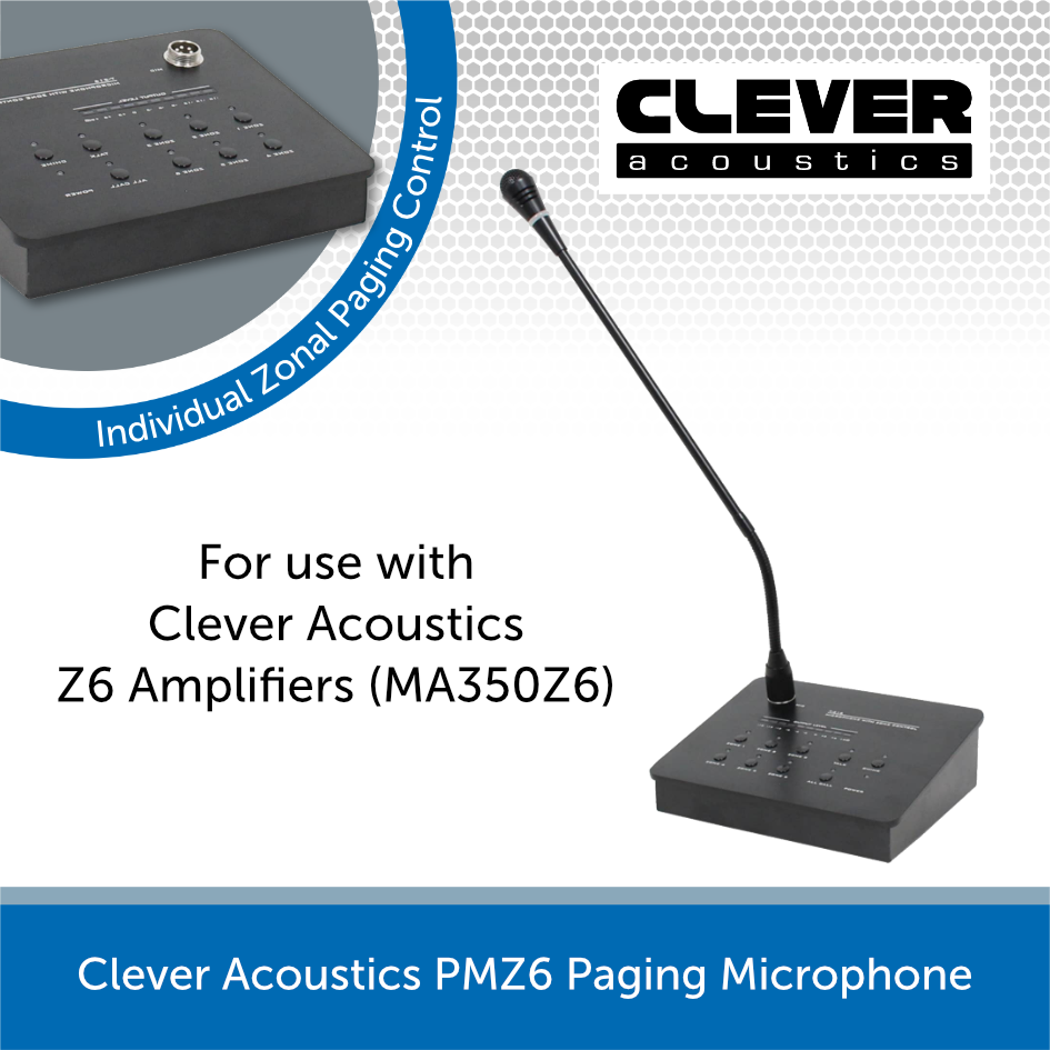 Clever Acoustics PM Z6 Paging Microphone for Z6 Series Amplifiers