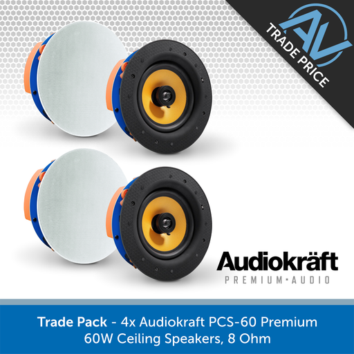 Trade Pack - 4x CLB Audio CS60 Premium 60W Ceiling Speakers, 8 Ohm