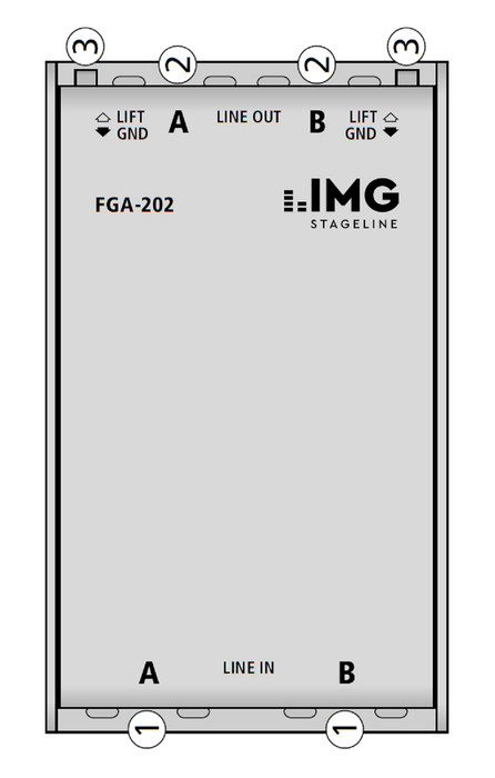 IMG Stageline FGA-202 Balanced Stereo Line Transformer / Hum Destroyer