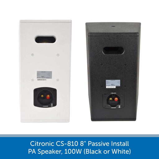 "showing the back of a Citronic CS-810 8"" Passive Install PA Speaker"