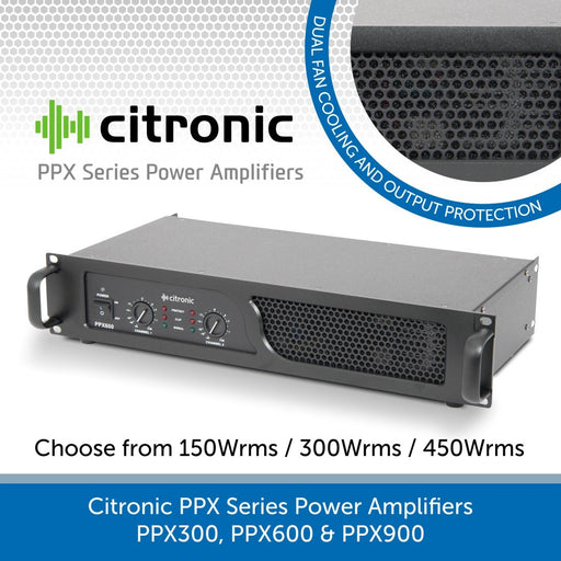 Citronic PPX Series Power Amplifiers - PPX300, PPX600 & PPX900