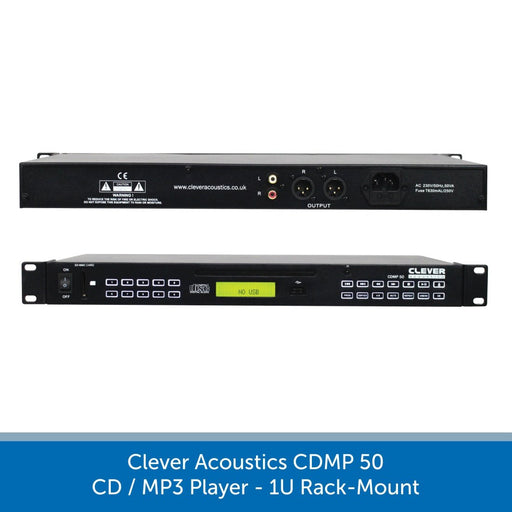Clever Acoustics CDMP 50 CD/MP3 Player, 1U Rack-Mount