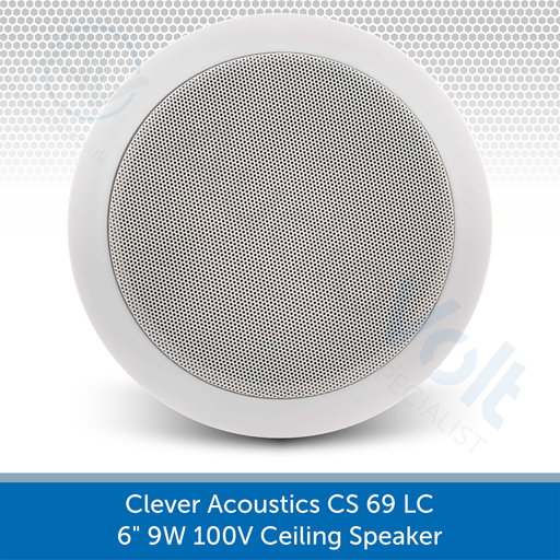 "Clever Acoustics CS 69 LC 6"" 9W 100V Ceiling Speaker AUDIOVOLT"