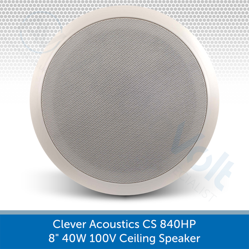 "Clever Acoustics CS 840HP 8"" 40W 100V Ceiling Speaker AUDIOVOLT"