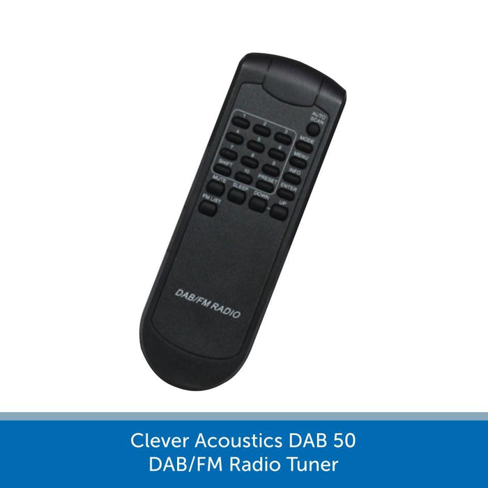 IR Remote for a Clever Acoustics DAB 50 DAB/FM Radio Tuner