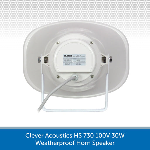 Rear of a Clever Acoustics HS 730 100V 30W Weatherproof Horn Speaker